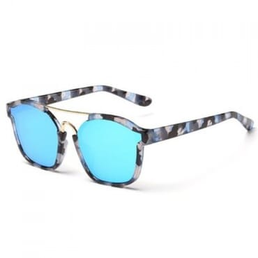 Reflective Vintage ,Sunglasses, - Blue