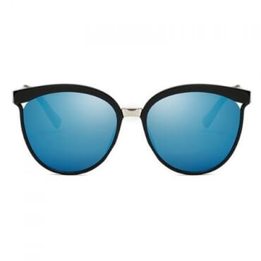 Round PC Frame Sunglasses - Blue