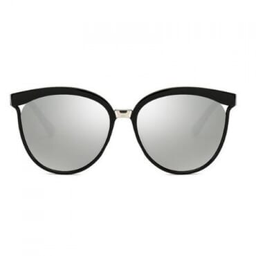 Round PC Frame Sunglasses - Grey