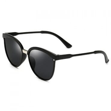 Round PC Frame Sunglasses- Black