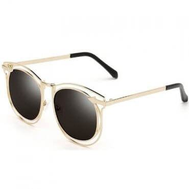 Vintage Arrow Sunglasses- Black/Gold