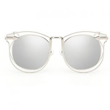 Vintage Arrow Sunglasses- Silver