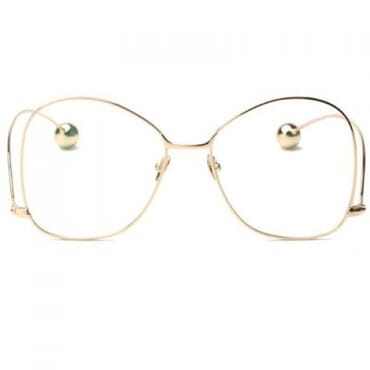 Round Metal Glasses - Clear
