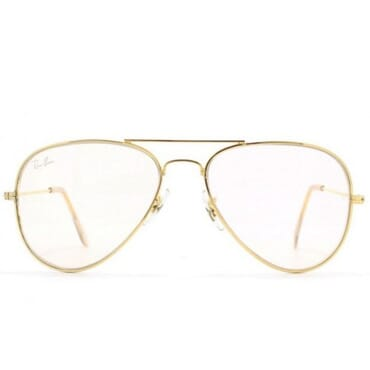RAY-BAN, GOLD AVIATOR, PHOTOCHROMIC VINTAGE UNISEX EYEGLASSES FRAME