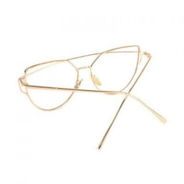 Poshkollect Metal ,Aviator Glasses,- Gold