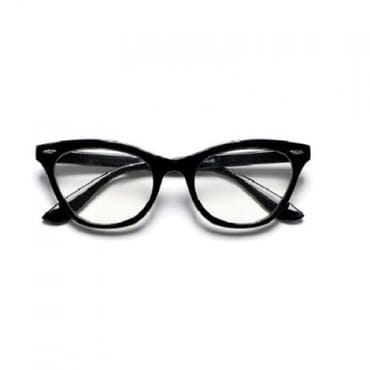 Poshkollect Cat Eye Chic Glasses,- Black