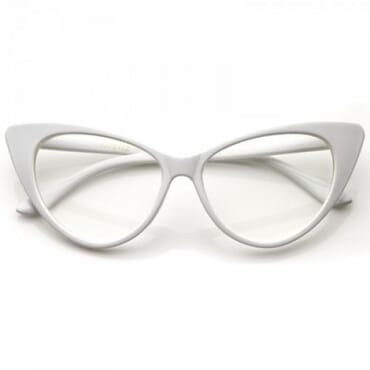 Posh Kollect Cat Eye Glasses - White