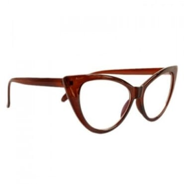 Posh Kollect Cat Eye Glasses - Coffee