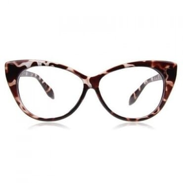 Posh Kollect Animal Print Cat Eye Glasses