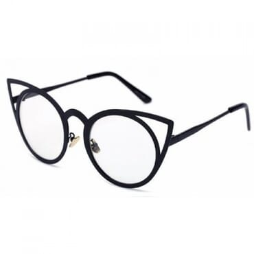 Laser Cut Cat Eye Glasses