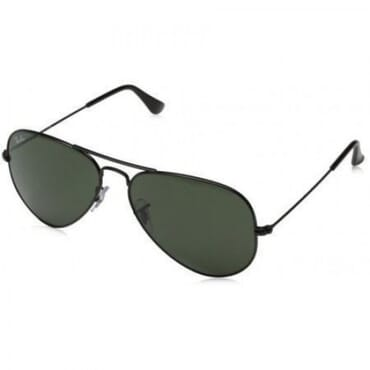 Ray-Ban, Aviator, Sunglasses, - Black Frame