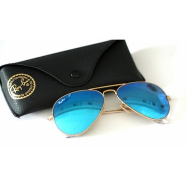 RAY BAN BLUE MIRROED ,AVIATORS,SUNGLASSES