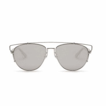 Posh Kollect Flat Metal ,Aviator Sunglasses, - Silver