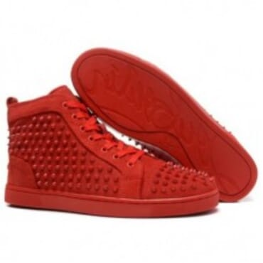 LOUIS SPIKES FLAT RED BOTTOM- RED,Mens SNEAKERS