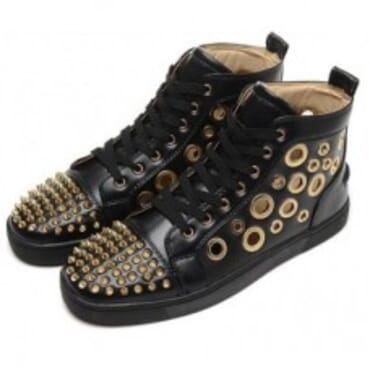 LOUIS SPIKES HIGTOP - BLACK,Mens SNEAKERS