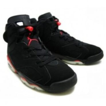 AIR JORDAN 6 VI RETRO DEEP INFRARED - BLACK/RED, Sneakers