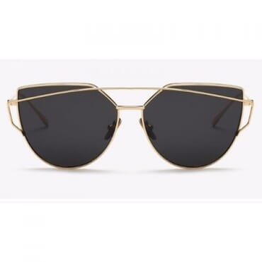 American Fashion Sunglasses - Black & Gold