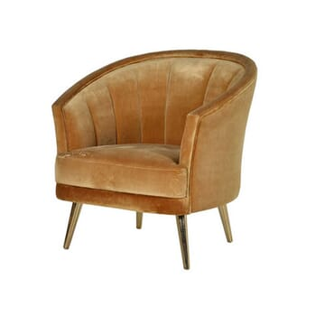 BRONZE CURVE BACK CHAIR