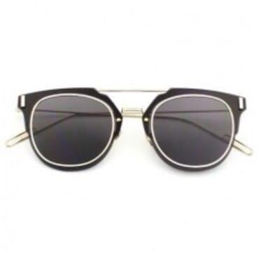 Christian Dior Square Acetate ,Sunglasses, - Black/Gold