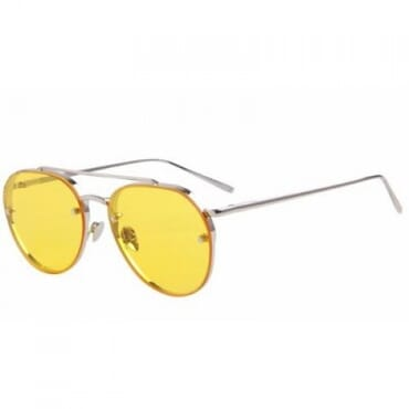Colorful Integrated ,Sunglasses, - Yellow