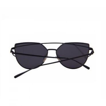 Flat ,Metal Aviator Sunglasses, - Black