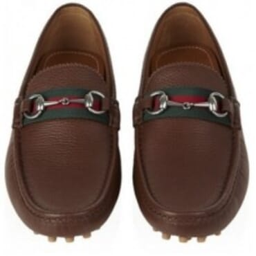 GUCCI DAMO LEATHER HORSEBIT- COFFEE BROWN,Mens Shoes
