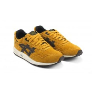 Asics Gel Saga Tan/Dark Brown and yellow Shoes