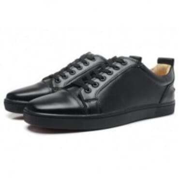BLACK LOUIS JUNIOR LEATHER LOW-TOP sneakers