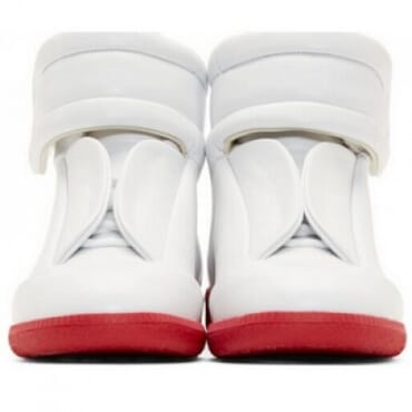 MAISON MARTIN MARGIELA FUTURE LEATHER RED SOLE HIGHTOP,SNEAKERS