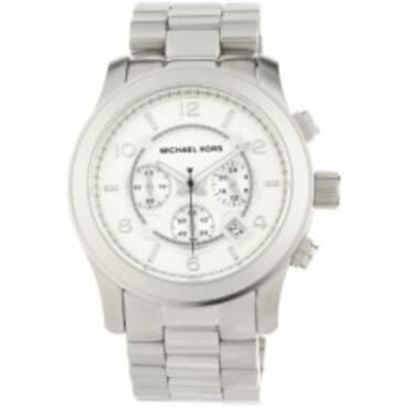 Silver Michael Kors MK8086 Oversized Runway ,WristWatch