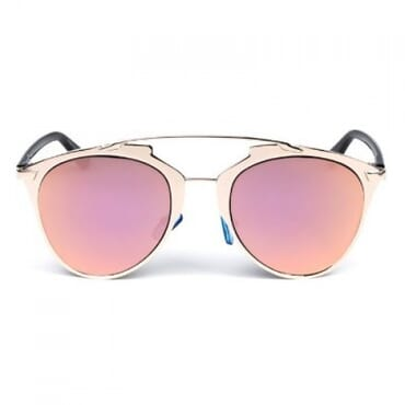 Posh Kollect Metallic ,Aviator Sunglasses, - Peach