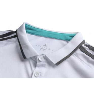 REAL MADRID 2017/2018 POLO | WHITE & AQUA BLUE