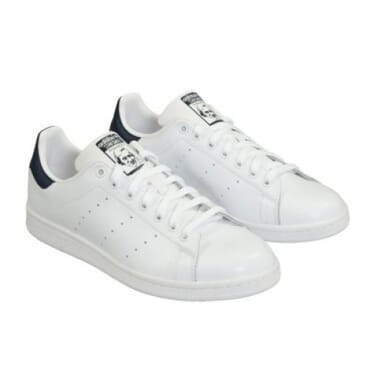 STAN SMITH MEN'S LACE UP - WHITE & BLACK ,SNEAKERS