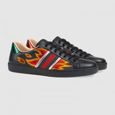 Ace low-top sneaker with flames,Sneakers