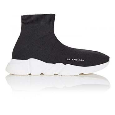 BALENCIAGA Knit High-Top -BLACK,Sneakers