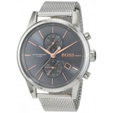 Boss Wristwatch with a quartz movement and central second hand-Moon Dial,Chain Wristwatch