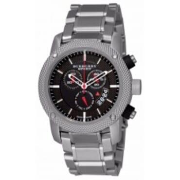 Burberry BU7702 Men's Heritage Black Chronograph,Chain Wristwatch
