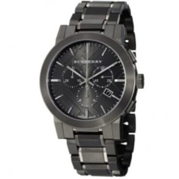 Burberry Men's BU9354 Large Check Ion Black Plated,Chain Wristwatch
