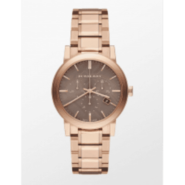 BURBERRY THE CITY CHRONOGRAPH ROSE GOLD