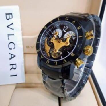 Bvlgari Mens Black Chronograph, Chain watch