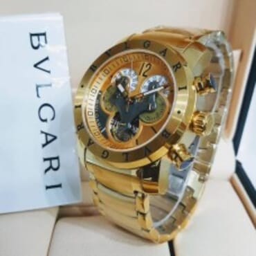Bvlgari Mens Gold Chronograph,Chain watch,
