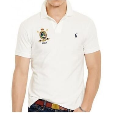 White Custom-Fit Mesh Polo Shirt