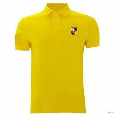 PORSCHE CREST SHIRT,-YELLOW