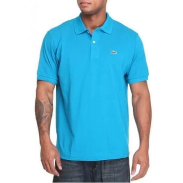 Lacoste Neck-sky blue T-Shirt
