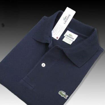 Lacoste Shirt, Plain Navy Blue