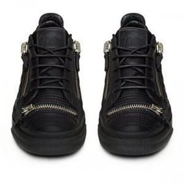 GIUSEPPE ZANOTTI TRIPLE-ZIP QUILTED LOW-TOP - BLACK,SNEAKER