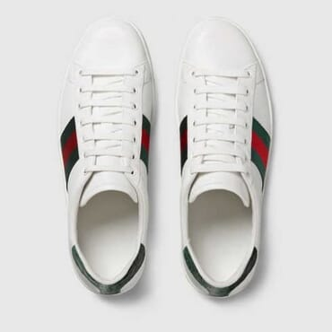 GUCCI LEATHER WITH WEB, SNEAKER