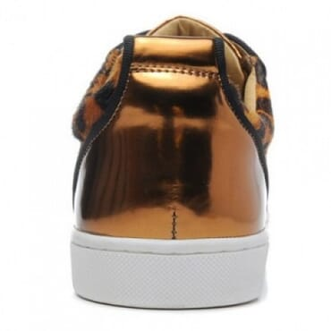 LOUIS JUNIOR SPIKES FLAT PRINTED PONY LOW-TOP LEOPARD,SNEAKERS