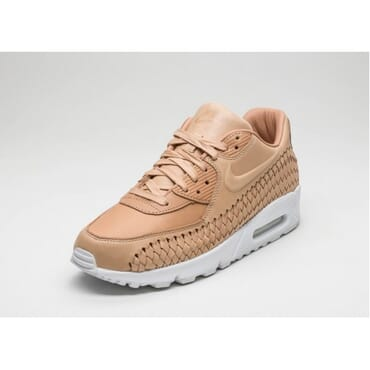 Mens Nike Air Max 90 Woven Yellow White,Running Shoes,
