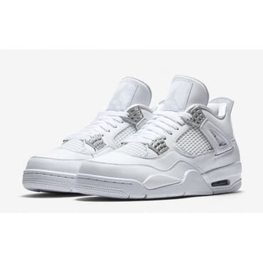 Nike Air Jordan,All White PURE MONEY Sneakers